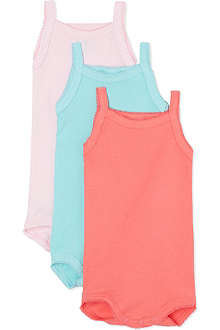 PETIT BATEAU Pack of three sleeveless bodysuits 1 month - 4 years