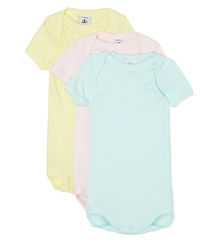 PETIT BATEAU Pack of 3 cotton bodysuits 1 month - 4 years (Multicolor
