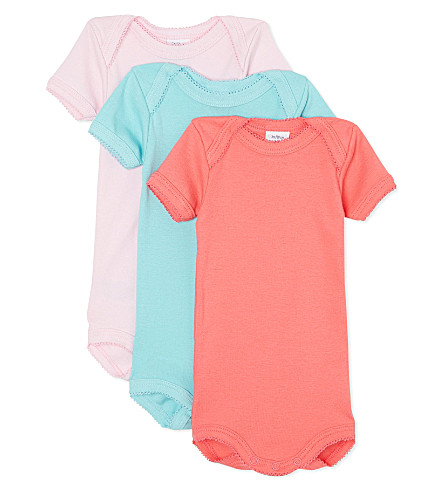 PETIT BATEAU Pack of three bodysuits 1 month-4 years (Multicolor