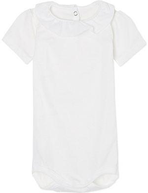PETIT BATEAU Short-sleeved fine jersey babygrow