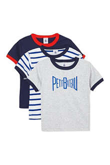 PETIT BATEAU Pack of three t-shirts 2-12 years