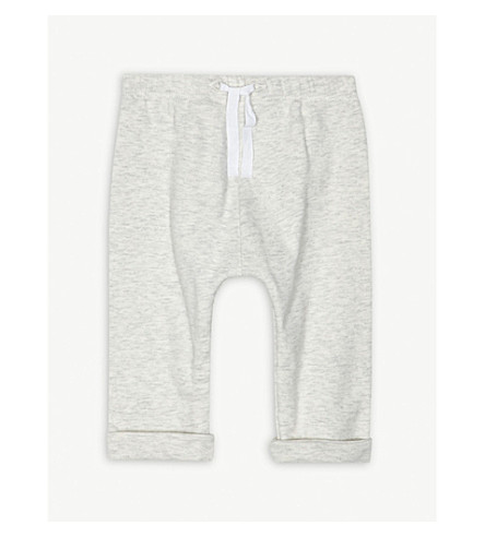 PETIT BATEAU Jersey cotton jogging bottoms 1-12 months (Grey
