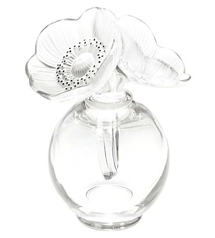LALIQUE Anemones clear crystal perfume bottle (Clear