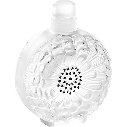 LALIQUE Dahlia crystal perfume bottle N°3 (Frosted