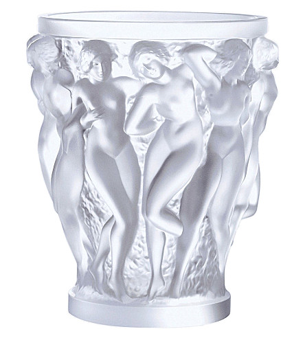 LALIQUE Bacchantes crystal vase 24cm (Clear
