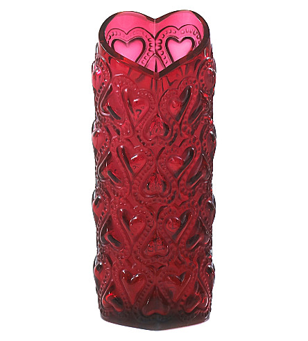 LALIQUE Amour vase 20cm (Red