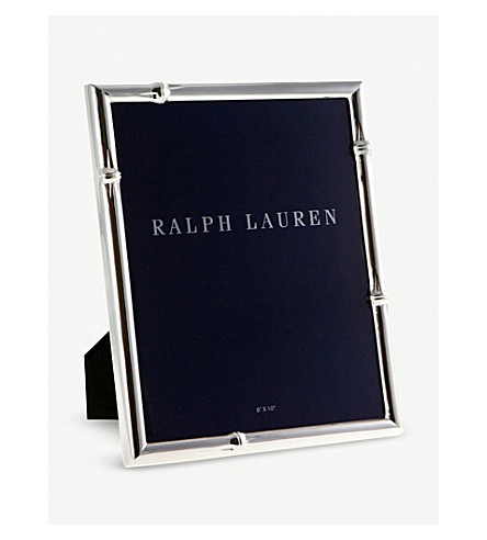 "RALPH LAUREN HOME Bryce silver-plated brass photo frame 8"" x 10"" (Silver"