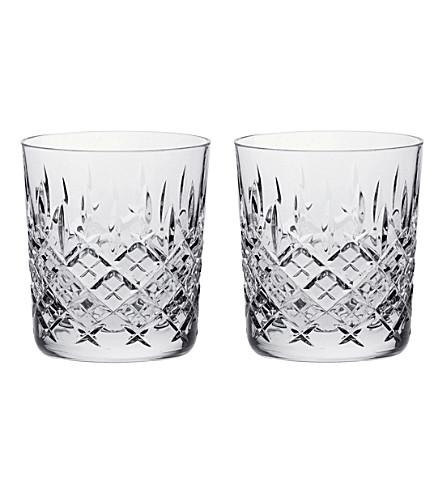ROYAL SCOT CRYSTAL London set of two large crystal tumblers (Clear