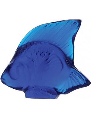 LALIQUE Glass fish ornament