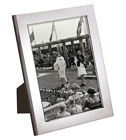 CARRS OF SHEFFIELD Flat Series silver-plated picture frame 6