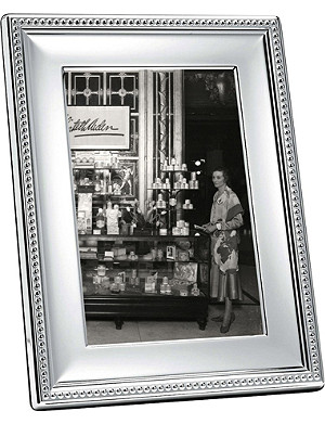 CHRISTOFLE Perles silver-plated photo frame 5 x 7