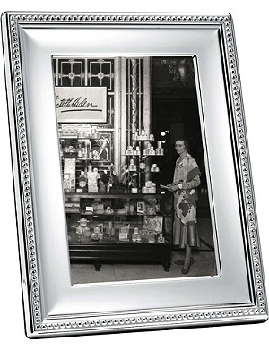 CHRISTOFLE Perles silver-plated photo frame 7 x 9