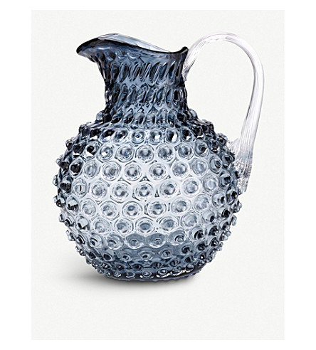 AGRARIA Glass bobble jug (Smoke