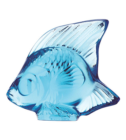 LALIQUE Fish crystal glass ornament