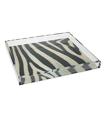 ALEXANDRA VON FURSTENBURG Soulmate trays (Zebra