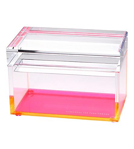 ALEXANDRA VON FURSTENBURG Pink acrylic treasure box (Pink