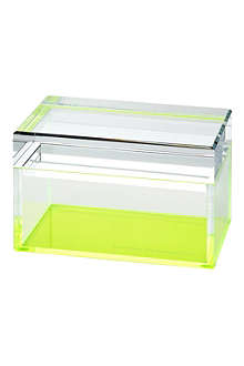 ALEXANDRA VON FURSTENBURG Green acrylic treasure box