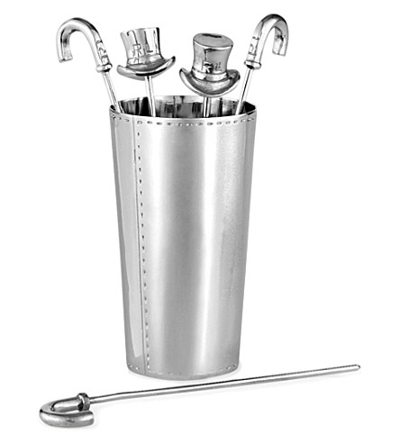 RALPH LAUREN HOME Finlay set of 8 silver-plated cocktail sticks (Silver