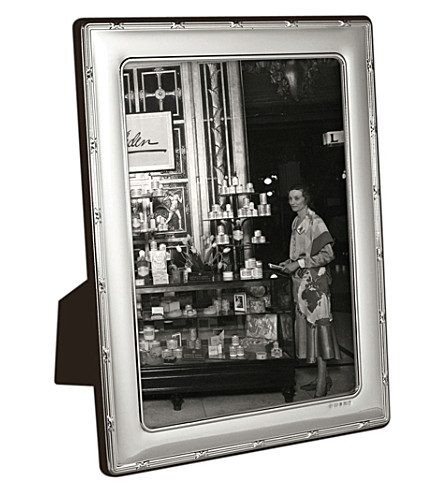 CARRS OF SHEFFIELD Reed and Ribbon sterling silver photo frame 7