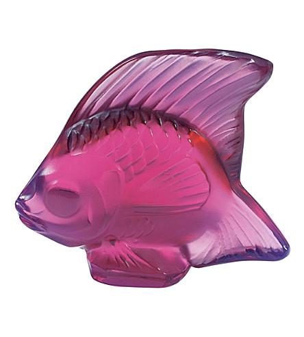LALIQUE 水晶鱼饰品