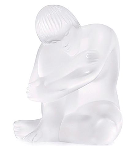LALIQUE 裸色水晶雕像