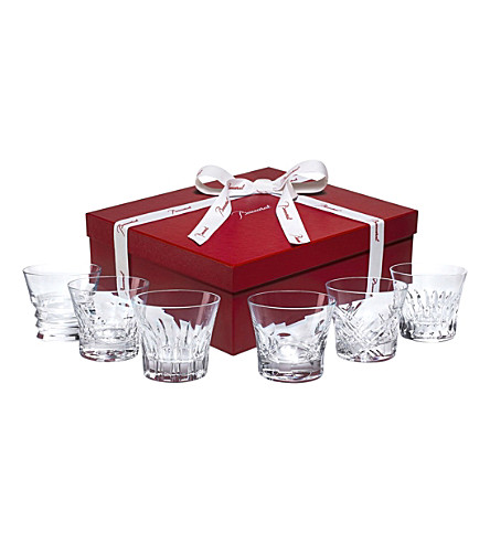 BACCARAT Everyday set of 6 assorted crystal tumblers