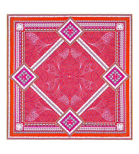 BACCARAT Crystal-print silk scarf