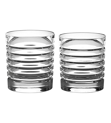 RALPH LAUREN HOME Metropolis set of two beveled tumblers (Clear