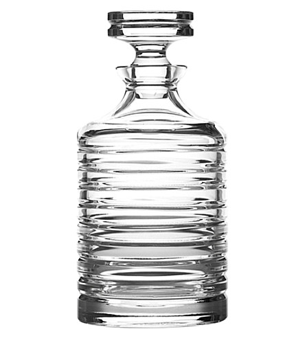 RALPH LAUREN HOME Metropolis beveled decanter (Clear