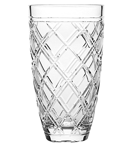 RALPH LAUREN HOME Brogan crystal vase (Clear