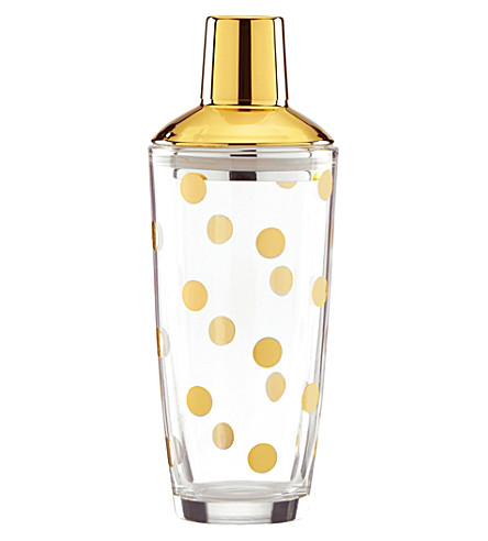 KATE SPADE Two of a Kind cocktail shaker (Gold