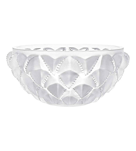LALIQUE Languedoc large crystal bowl (Clear