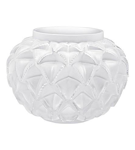 LALIQUE 透明水晶花瓶 (清