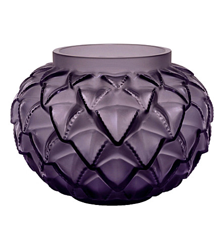 LALIQUE Languedoc crystal vase 12cm (Purple