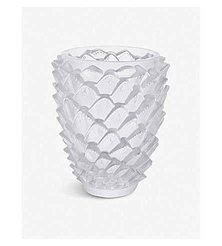LALIQUE Agave crystal vase 30cm (Clear
