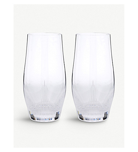 LALIQUE 100 points large crystal highball glasses (Clear