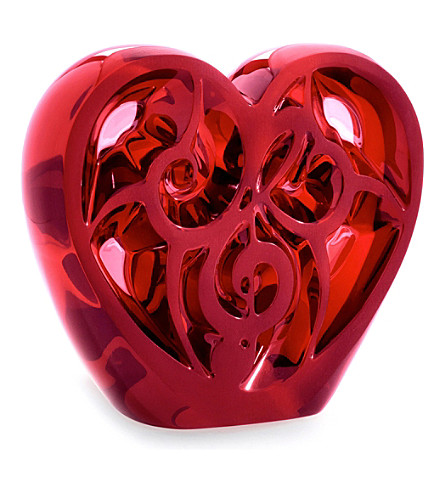 LALIQUE Music is Love crystal heart