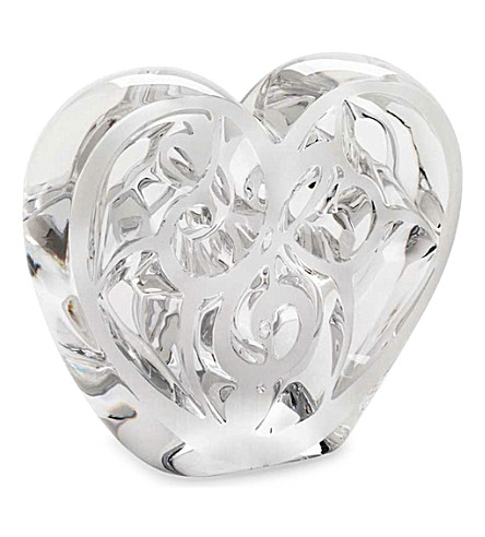 LALIQUE Music is Love clear crystal heart