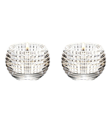 BACCARAT Eye crystal pair of votives (Clear