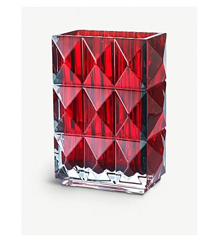 BACCARAT Louxor crystal vase (Red
