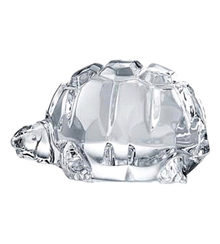 BACCARAT Heritage crystal tortoise ornament (Clear