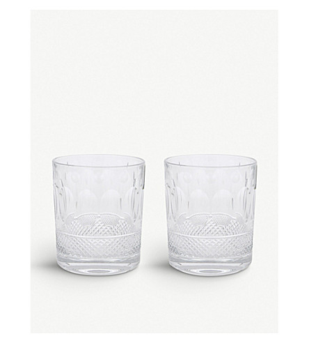 ROYAL SCOT CRYSTAL Belgravia set of two large crystal tumblers (Clear
