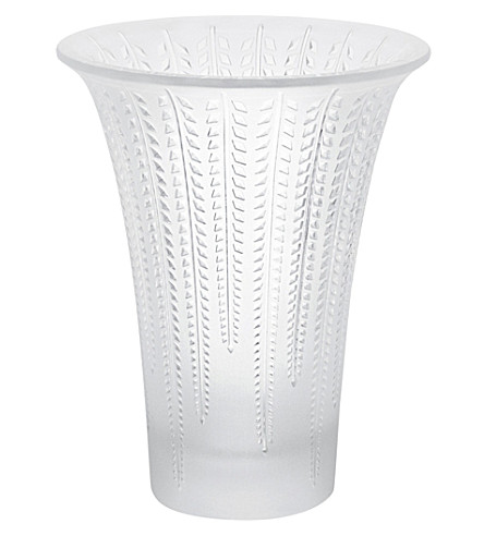 LALIQUE Clear crystal Glycines flared vase (Clear
