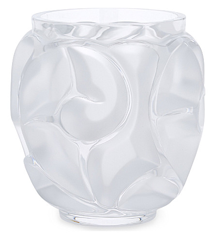 LALIQUE Tourbillons crystal vase (Clear