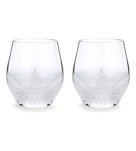 LALIQUE 100 points large crystal tumblers (Clear