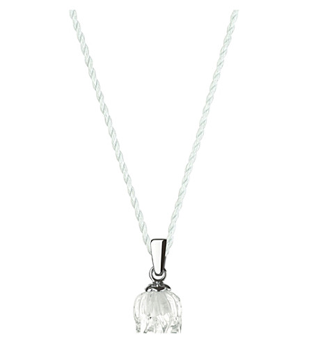 LALIQUE Muguet one crystal pendant (Clear,+sterling