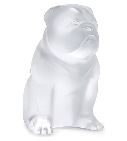 LALIQUE Bulldog crystal figurine (Clear