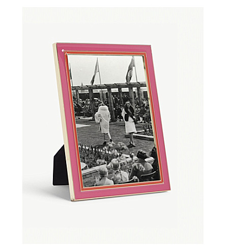 KATE SPADE 波特兰地方漆包金属相框 (粉红色/红色