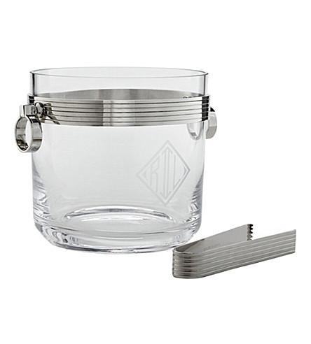 RALPH LAUREN HOME Bentley ice bucket and tongs