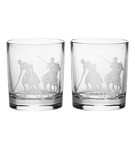 RALPH LAUREN HOME Garrett set of two double old-fashioned glasses